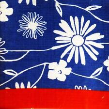 PATRIOTIC FABRIC TABLECLOTH~52x70 Oblong~Flowers/Red/Blue/July 4th/Floral~ NEW