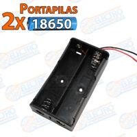PORTAPILAS 2x 18650 3,7v cable alimentacion PCB bateria Battery holder
