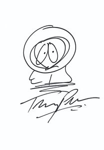 South Park 'Kenny' Original Drawing by Trey Parker