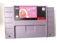 Super Nintendo SNES Barbie Super Model Game Cartridge Tested Working Authentic!
