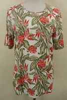 Modisches GERRY WEBER Kurzarm Stretch Shirt, Viskose mehrfarbig geblümt Gr. 42