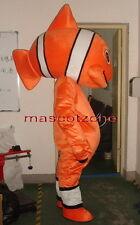 New Professional Nemo Clowfish Fish Mascot Costume Fancy Dress Adult Size EPE