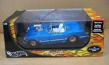 Hot Wheels 1953 Pro Street Corvette Modified Blue Convertible Car Die Cast 1:18