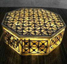 Marble Jewelry Box Storage Boxes Inlay Pearl New Decor Keep Safe Wedding Gifts