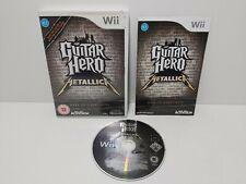 Guitar Hero Metallica Nintendo Wii Complete TESTED PAL