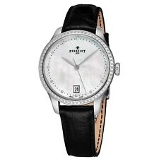 Perrelet Women's First Class MOP Dial Strap Diamond Automatic Date Watch A2070/3