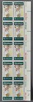Block 10 1969 US Postal Service Christmas Winter Sunday 6c Stamps Scott 1384