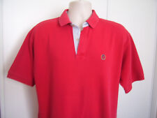TOMMY HILFIGER RETRO POLO SHIRT ADULT LARGE L RED MENS