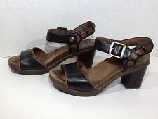 Dansko Women's Size 6.5 / EU 37 Black Open Toe Shoes Heels SS-568