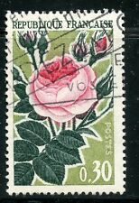 STAMP / TIMBRE FRANCE OBLITERE N° 1357 FLORE / ROSES