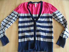 NEO by ADIDAS gestreifte Strickjacke Cardigan pink grau blau Gr.M TOP  615