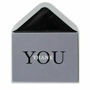 Papyrus Thank You Card - Gray and Black Professional Style w/ Foil Embossing