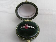 18ct White Gold Natural Ruby and Diamond Ring with valuation $3,950.00