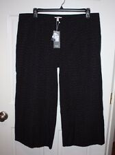 NWT Womens Eileen Fisher Denim Rainfall Organic Cotton Cropped Pants Size XL