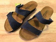 Naot Jacey Leather Slide Wedge Sandals Women's EU 38 / US 8-8.5 M Navy ~