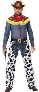 Garçons Squelette Far West Shérif Cowboy Halloween Costume Robe Fantaisie Neuf