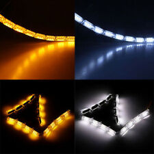 2x Sequential LED Strip Turn Signal Switchback Indicator Daytime Running Lights
