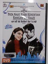 Pata Nahi Rabb Kehdeyan Rangan Ch Raazi DVD Ex-Library Copy Very Good COndition