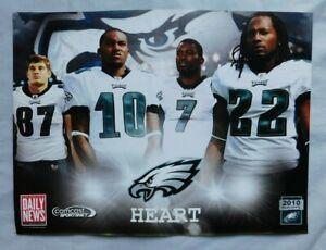 2010 Daily News Poster 9x12 Eagles DeSean Jackson Michael Vick Brent Celek