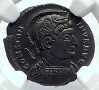 CONSTANTINE I the Great Genuine Ancient 321AD Roman Coin GLOBE ALTAR NGC i81664