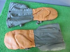 Cold Weather Long Mittens W/ Snap-In Inserts - Medium - Leather / Alpaca / Nylon