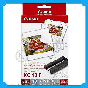 Canon KC18IF Print Cartridge+Ink Label Pack 18x Sheets=>Selphy CP910/CP900/CP800