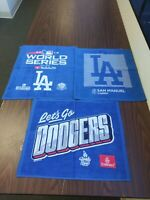NEW SET OF 3 LOS ANGELES DODGERS OFFICAL SGA WORLD SERIES/PLAYOFFS RALLY TOWELS