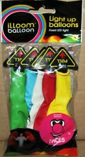 Pack of 5 Balloon illoom Light Up Colour Balloons Fun Celebration Party Faces