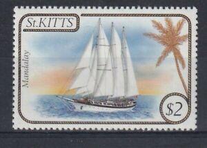 ST KITTS 1985 Ships $2 Schooner Mandalay MNH