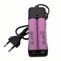2X 18650 30Q 3000mAh High Drain 3.7V Li-ion Battery Rechargeable + 4.2V Charger