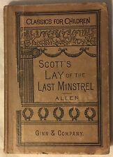 1889 Lay of the Last Minstrel by Sir Walter Scott, Classic For Children (12/16)