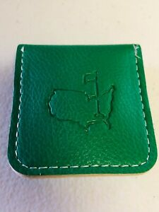 Augusta National Golf Club Masters Berckman's Only Brass Coin Green Leather Case