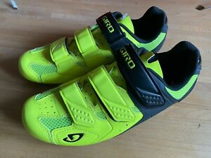 Giro Treble II Road Shoes EU43 / UK8.5 yellow/black used
