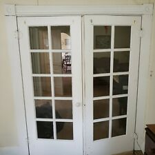 antique wooden french doors 78.75in x 32.25in