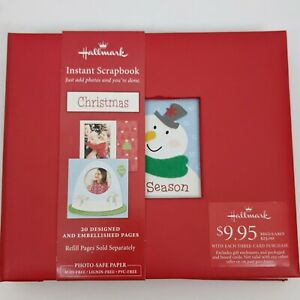 Hallmark Christmas Instant Scrapbook Photo Album 20 Embellished Pages NEW