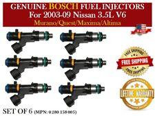 6x Fuel injectors OEM for Nissan Altima, Maxima, Murano, Quest 3.5L #0280158005