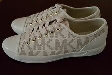 WOMEN'S MICHAEL KORS MK LOGO CITY Vanilla Ivory SNEAKERS  SIZE 8. 5 NEW