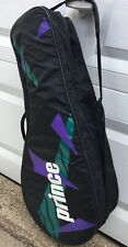 Classic Prince 6 Racket Tennis Bag Black Purple Green - Shoulder Strap - Euc