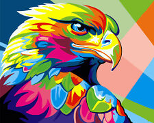 16X20'' DIY Paint By Number kit  Acrylic Oil Painting Color Eagle On Canva 2218