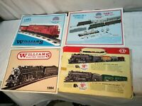 WILLIAMS Electric Trains Catalog - 1980s Set of 3 Plus One Lionel Catalog