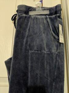 Junior Women Lady Size XXL 2X (19) Blue Sleep Casual Comfy Pants
