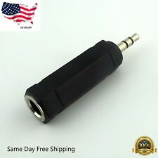 "Audio 3.5mm Male to 6.35mm 1/4""  Female Jack Stereo Adapter Connector Converter"