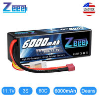 Zeee 6000mAh 11.1V 80C 3S LiPo Battery Deans Plug for RC Truck Airplane Car Boat