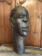 Grand Antique African Tribal Statue Sculpture Hand Carved African Art #BLM