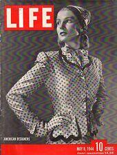 1944 Life May 8 - Truk; Covarrubias Prints; Mark Twain;Batista marries;MacArthur
