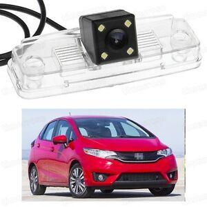 4 LED Car Rear View Camera Reverse Backup CCD for Honda Fit Hatchback 2015-2016