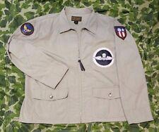 "Willis Geiger M-421a Flight Jacket Bush Poplin 42"" Burma Bridge Busters CBI WW2"