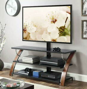 "Whalen Payton 3-in-1 Flat Panel TV Stand for TVs up to 65"", Brown Cherry"