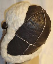 NEW Sheepskin Russian Trapper Bomber - Aviator Hat Unisex Real Leather Shearling