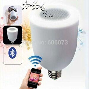 POWER BEAUTY LED Symphony Light Bulb and Bluetooth Speaker w/ Remote | E27 Base